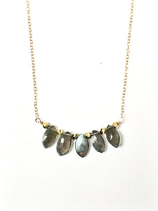 Labradorite Briolette Necklace