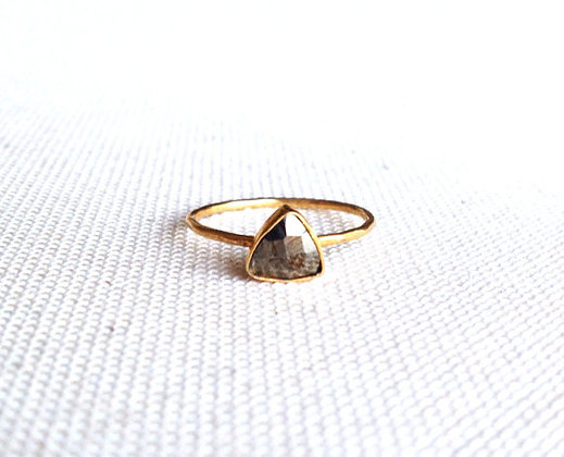 Stackable Triangle Pyrite Ring