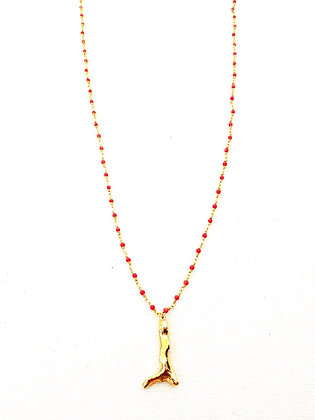Coral rosary necklace