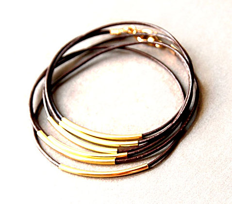 Brown Leather Wrap Bracelet - SOLD OUT