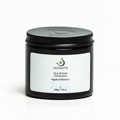 Sels de bain à l'huile essentielle de Romarin et Algues - 200g