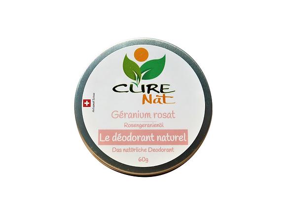 Déodorant naturel au Géranium Rosat
