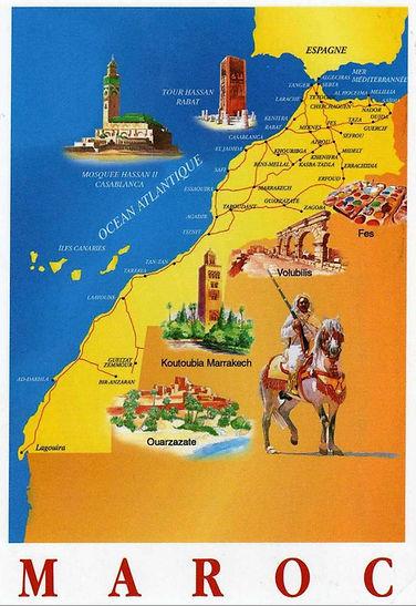 Carte du Maroc