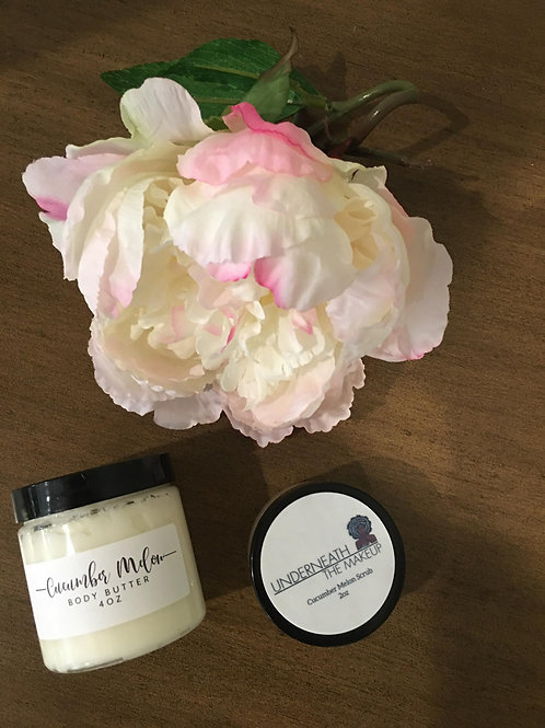 All Natural Body Butter and Scrub Bundle 4oz