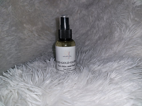 Liquid Gold Glow Oil  for hair and skin