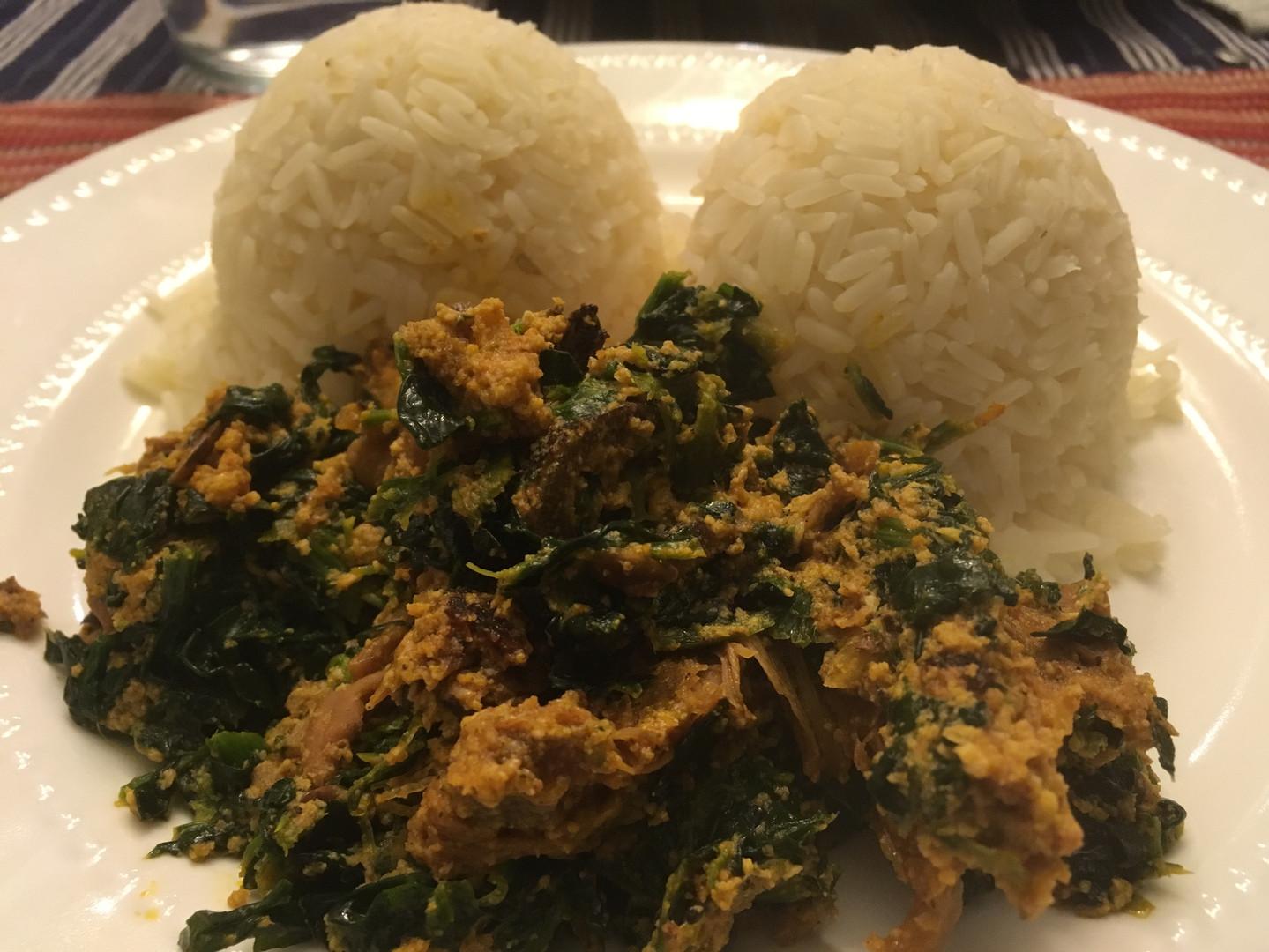 Efo Riro and Rice