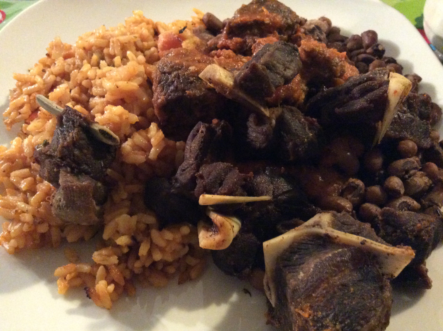 Jollof-Rice & Fried Meat