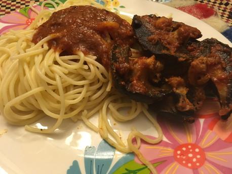 Spaghetti and Stewed Jumbo Snails.JPG