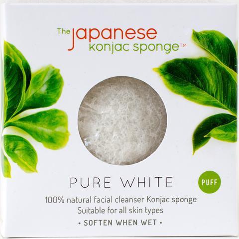JAPANESE KONJAC SPONGE PURE WHITE