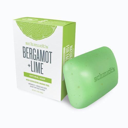 SCHMIDT'S BERGAMONT + LIME NATURAL SOAP