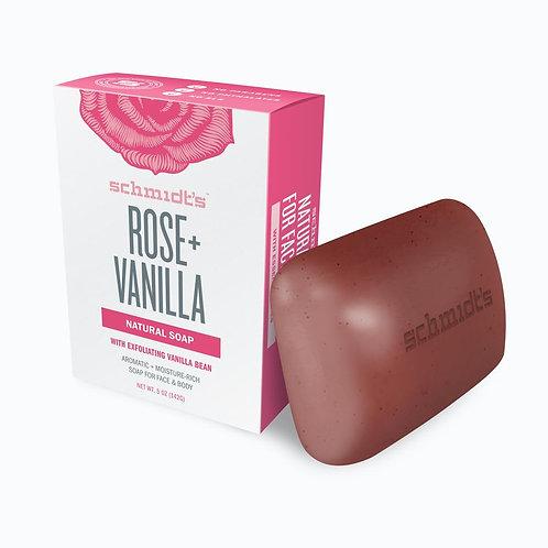 SCHMIDT'S ROSE + VANILLA NATURAL SOAP