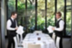 Alseasons Waiters set up table