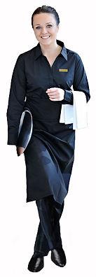 Alseasons Waitress in all black uniform