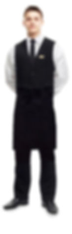 Waiter in Black & White uniform