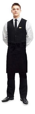 Waiter in Black & White uniform