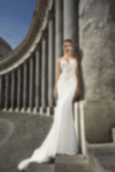 Julie Vino spaghetti Strap gown