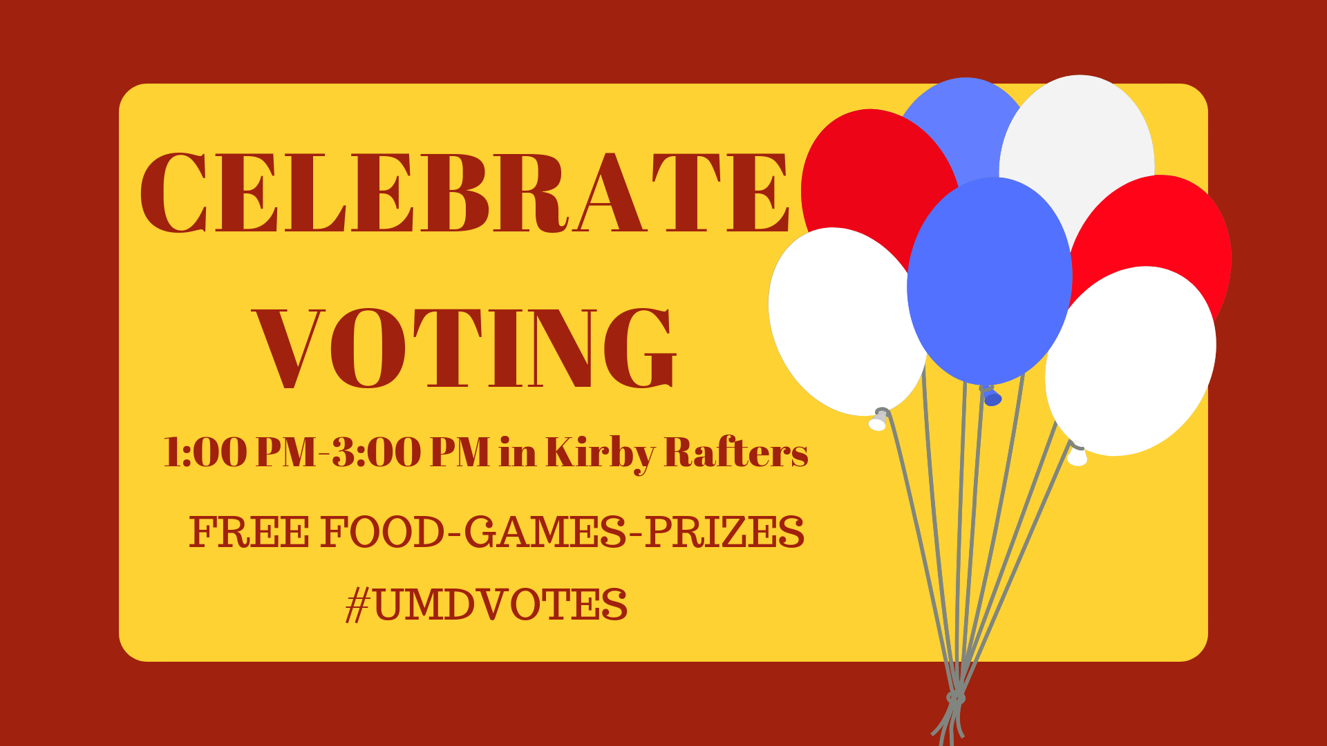 #UMDVOTES PARTY