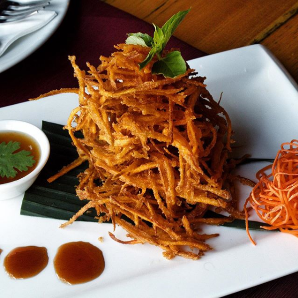 Sweet Potato Fritters Thai appetizer