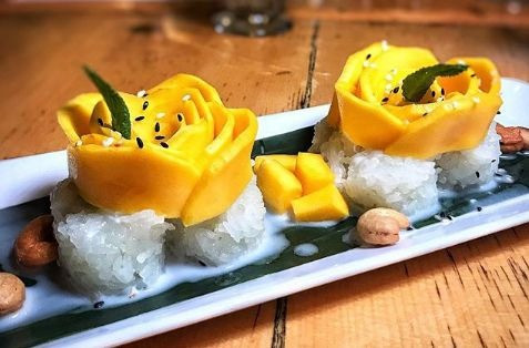 Mango Sticky Rice dessert by IMM Thai Kitchen