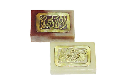 Engraved Brass Soap