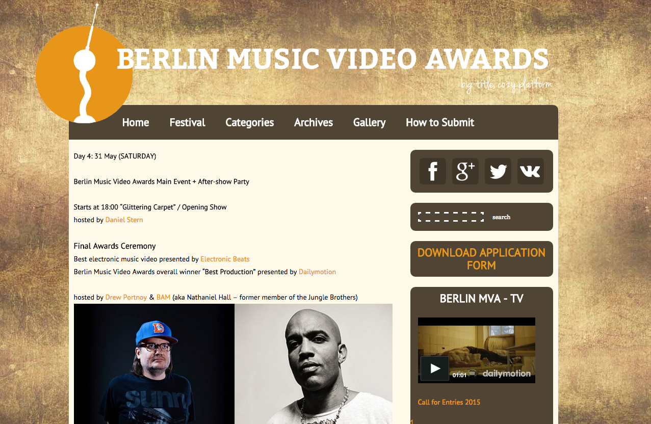 Berlin Music Video Award. com
