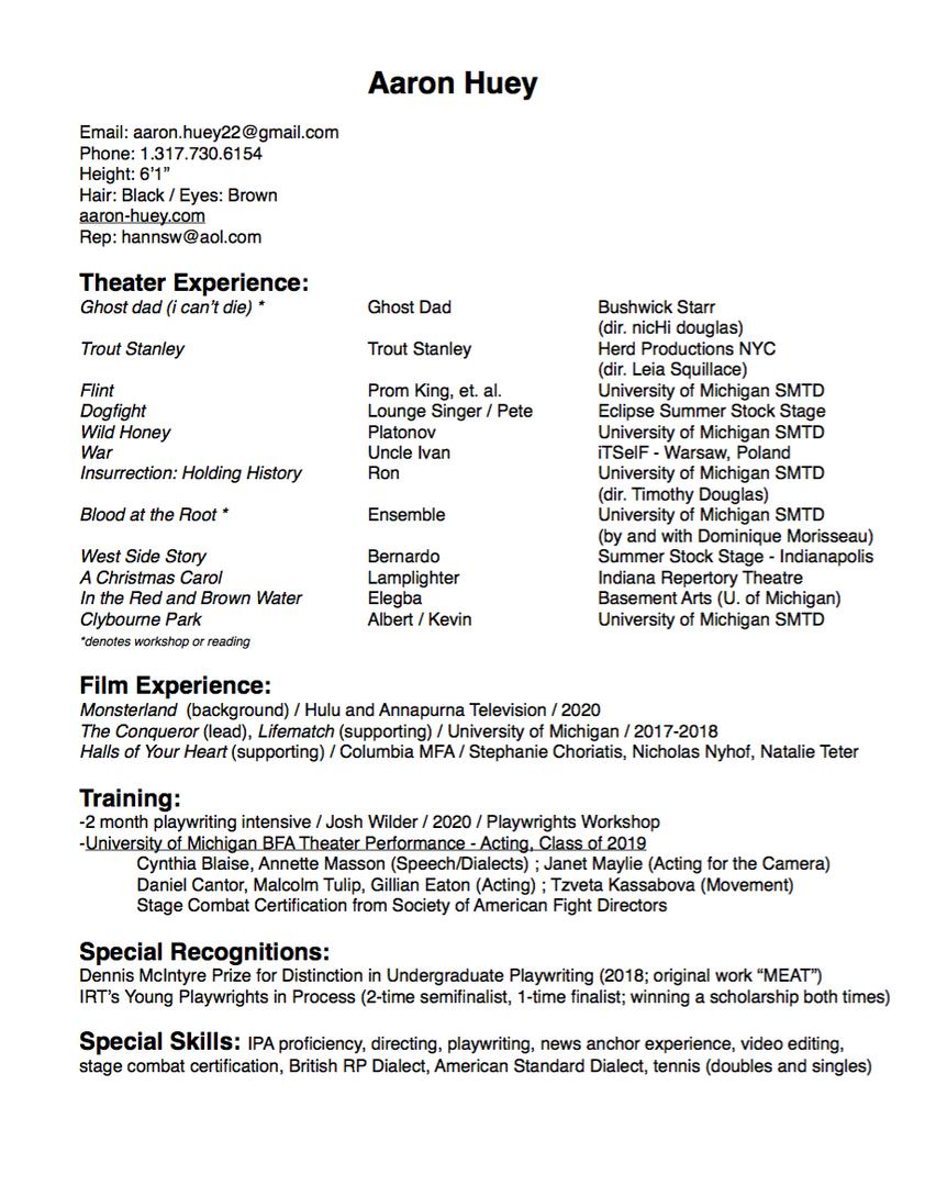 Aaron's Resume