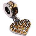 Heart with Rhinestones Dangle