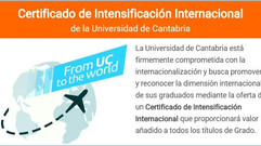 Certificado de intensificación internacional de la Universidad de Cantabria.