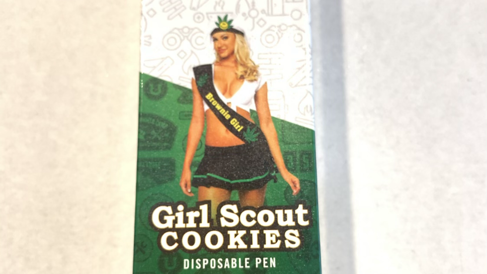 Girl Scout cookies disposable pen