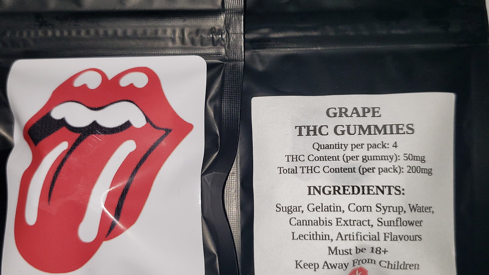 Grape gummy's 200mg