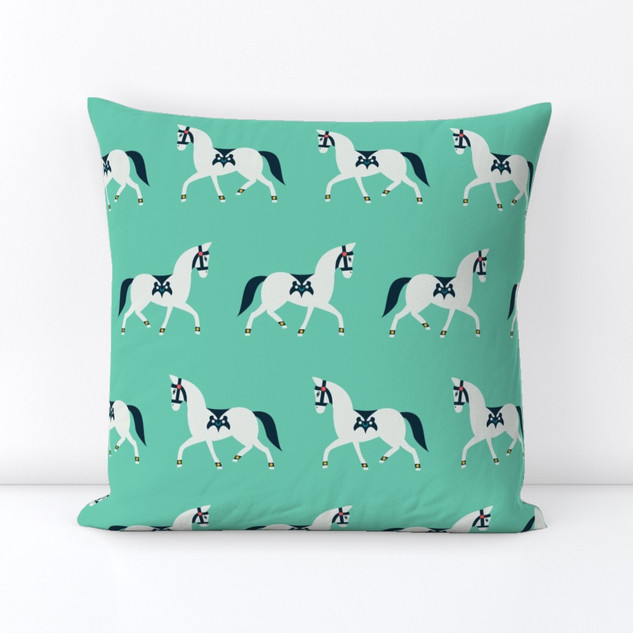 All-Over Pattern Square Throw Pillow