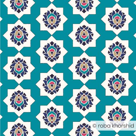 Botanical Maze - Turquoise