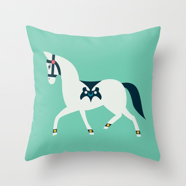 Graphic Square Throw Pillows