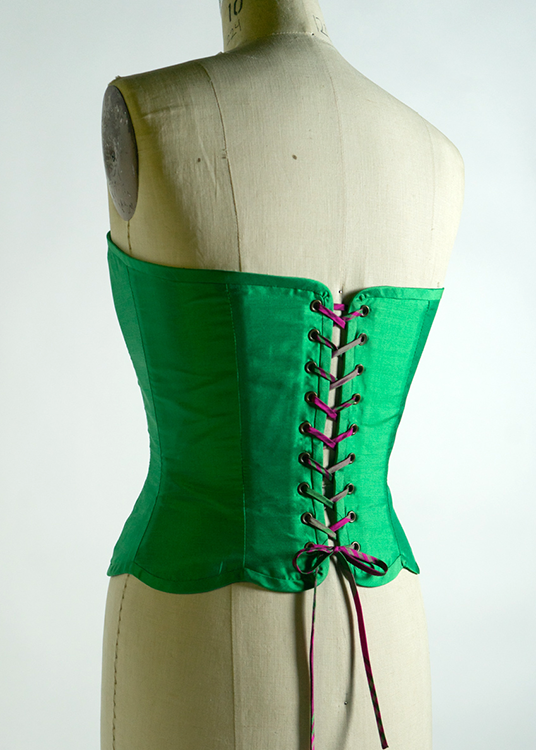 Quilted silk corset