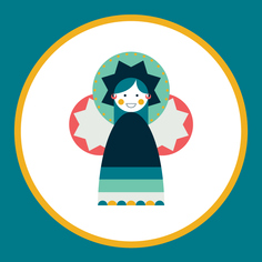 Moulid Doll - Teal (jumbo)