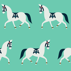Arabian Horse Parade - Mint (jumbo)