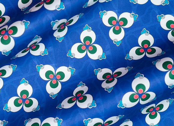 Ottoman Polka Dot - Cobalt