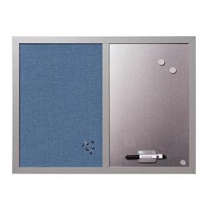 Bi-Office Combination Notice and Magnetic Board (600mm x 450mm) Blue