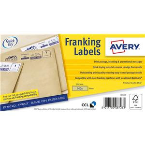 Avery Franking Label (Various Sizes / Various Pack Sizes)