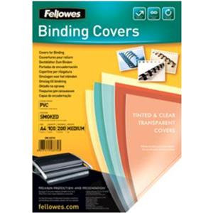 Fellowes (A4) 180 Microns PVC Binding Cover (Clear)