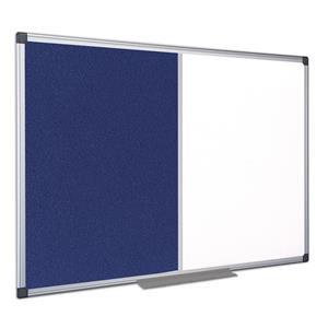 Bi-Office Maya Combination Board (Felt/Melamine) Non-Magnetic Aluminium Frame