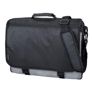 Lightpak WAVE Polyester Messenger Bag (Black/Grey)
