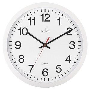 Acctim Controller Wall Clock 36.8cm White