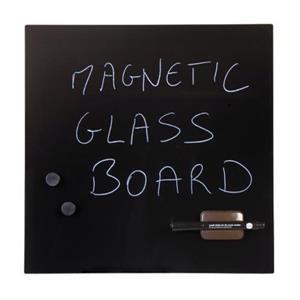 Bi-Office (480 x 480mm) Magnetic Glass Memo Tile Board