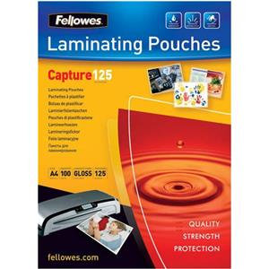 Fellowes (A4) Glossy 125 Micron Glossy Laminating Pouches