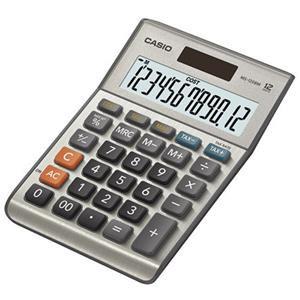Casio MS-120BM 12-digit Cost/Sell/Margin/Tax Desktop Calculator (Silver)