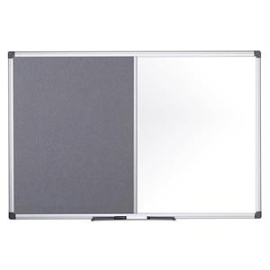 Bi-Office Maya Combination Board (Felt/Lacquered Steel) Magnetic Aluminium Frame