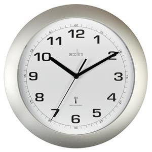 Acctim Cadiz Radio Controlled (25.5cm) Wall Clock (Silver)