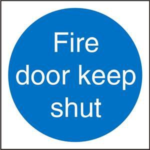 Stewart Superior M014SAV Self Adhesive Vinyl Sign (100x100) -Fire Door Keep Shut