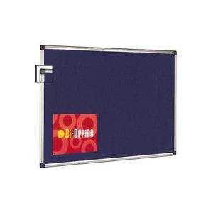 Bi-Office Felt Board Aluminium Frame Blue